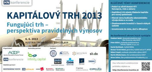 Konferencia kapitálový trh 2013